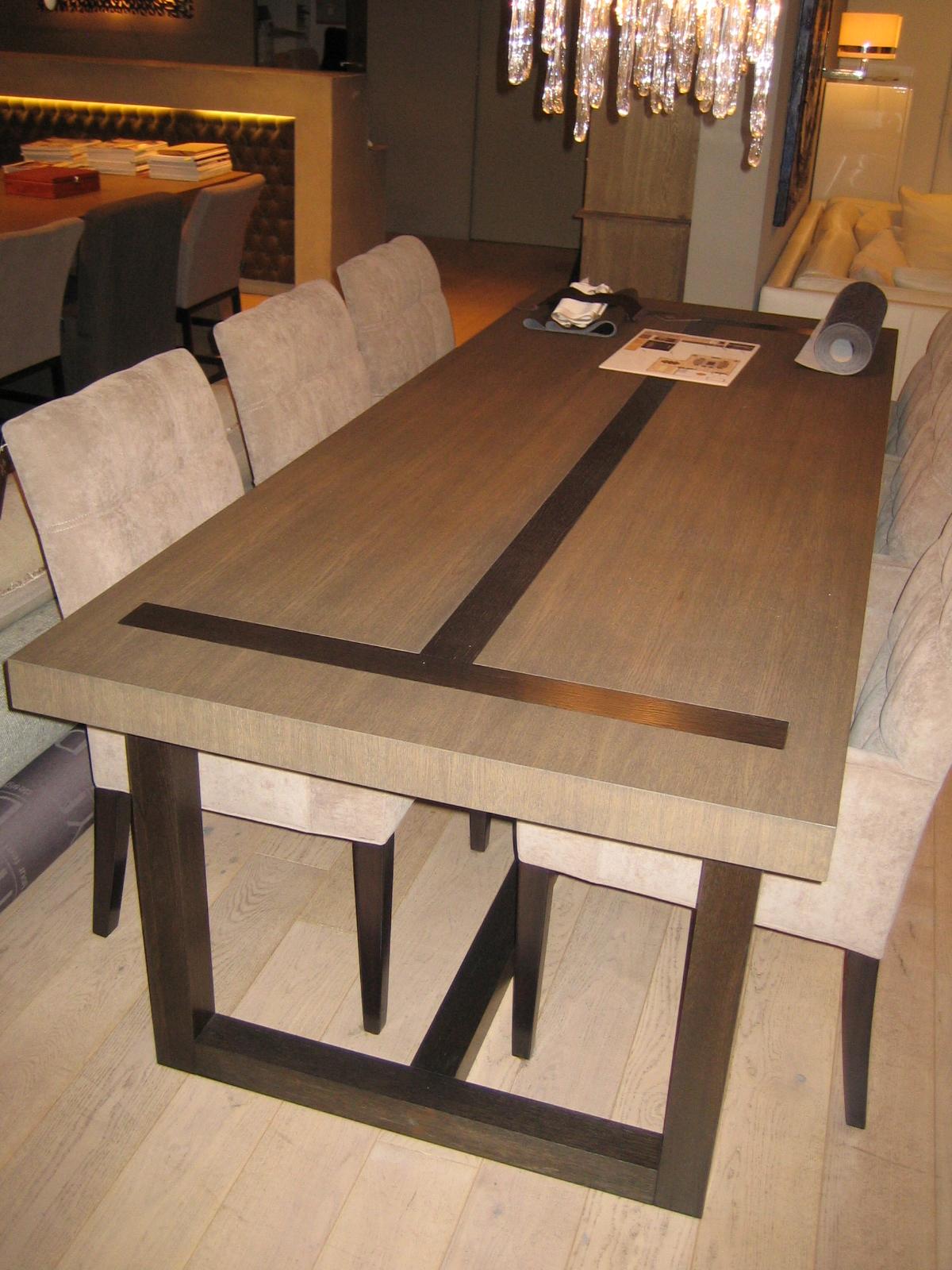 Eetkamertafel hvs design maatwerk meubelen speciaal for Design eetkamertafel